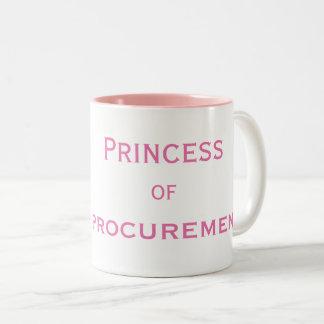 Caneca De Café Em Dois Tons Princesa do gerente fêmea especial da obtenção