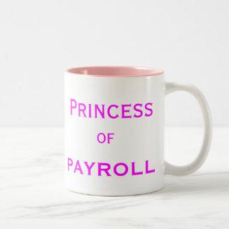 Caneca De Café Em Dois Tons Princesa do título fêmea do gerente da mulher da