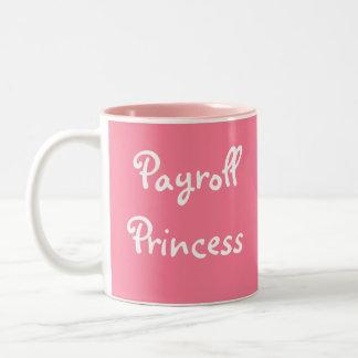 Caneca De Café Em Dois Tons Princesa Engraçado Mulher Gerente Alcunha da folha