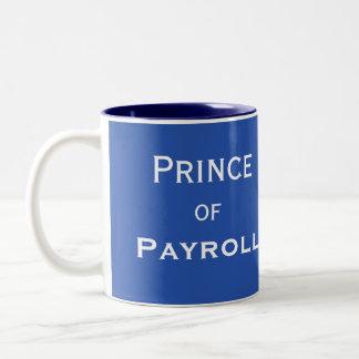 Caneca De Café Em Dois Tons Príncipe do apelido masculino engraçado do gerente
