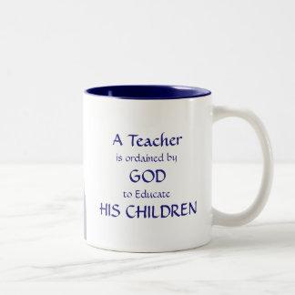 Caneca De Café Em Dois Tons Professor cristão