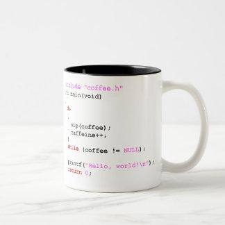 Caneca De Café Em Dois Tons Programação de Coffee.c