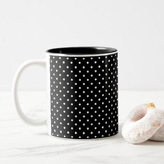 Caneca De Café Em Dois Tons Projete suas próprias bolinhas brancas minúsculas