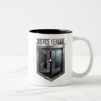 Caneca De Café Em Dois Tons Protetor metálico da liga de justiça | JL