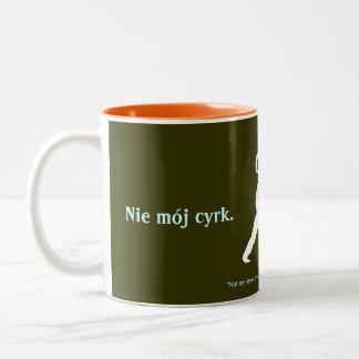 Caneca De Café Em Dois Tons Provérbio polonês