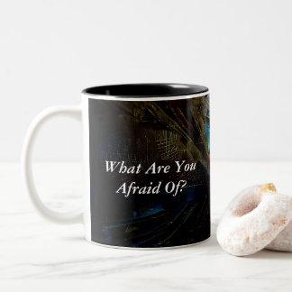 Caneca De Café Em Dois Tons Que está você receoso? Com trabalhos de arte
