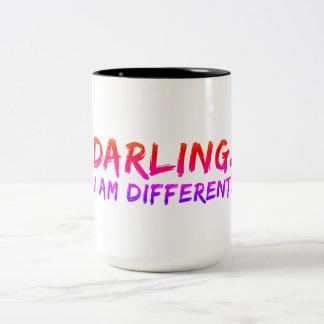 Caneca De Café Em Dois Tons Querido, eu sou diferente