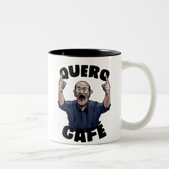 Caneca De Café Em Dois Tons Quero Café