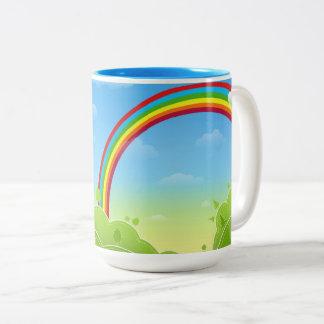 Caneca De Café Em Dois Tons rainbow_multicolored