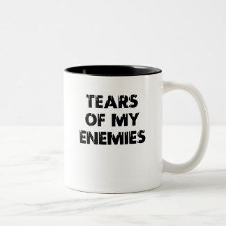 Caneca De Café Em Dois Tons Rasgos de meus inimigos - 01