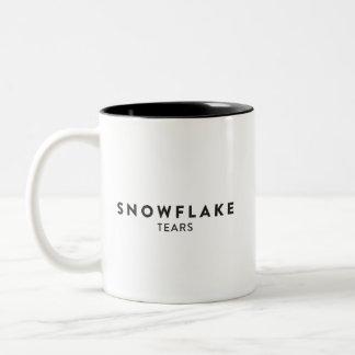 Caneca De Café Em Dois Tons Rasgos do floco de neve