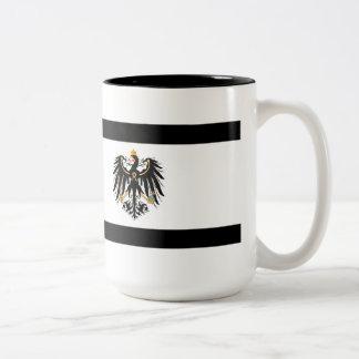Caneca De Café Em Dois Tons Reino Preussen estandarte de nacional