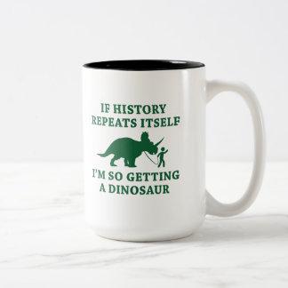 Caneca De Café Em Dois Tons Repetições da história