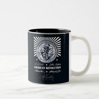 Caneca De Café Em Dois Tons Revolução Americana Alexander Hamilton Washington