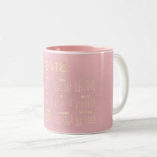 Caneca De Café Em Dois Tons Rosa mínimo do rosa Pastel do ouro do Sepia do