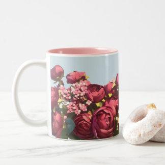 Caneca De Café Em Dois Tons Rosas