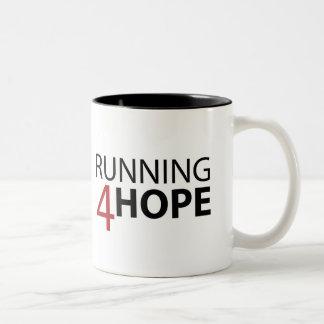 Caneca De Café Em Dois Tons Running4Hope Mug