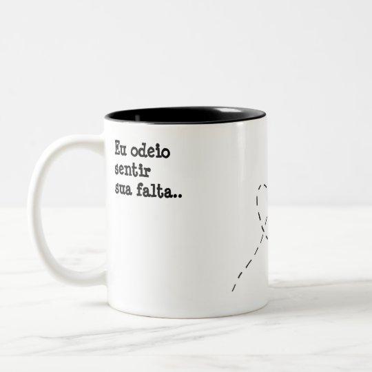 Caneca De Café Em Dois Tons Saudade