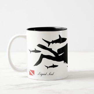 Caneca De Café Em Dois Tons Scuba Diver - Mug