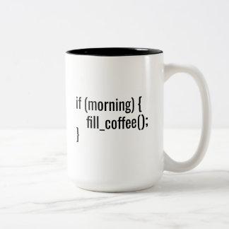 Caneca De Café Em Dois Tons Se HTML engraçado do codificador do programador do