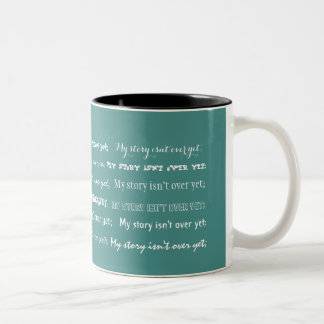 Caneca De Café Em Dois Tons Semicolon-Minha história não se acaba ainda;
