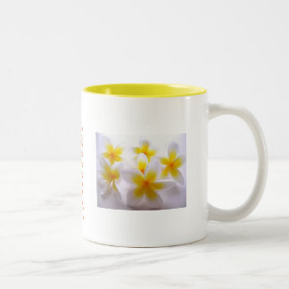 Caneca De Café Em Dois Tons Série da flor