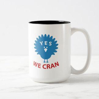 Caneca De Café Em Dois Tons Sim nós Cran