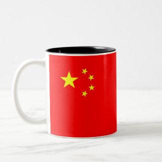 Caneca De Café Em Dois Tons símbolo da bandeira de país da porcelana
