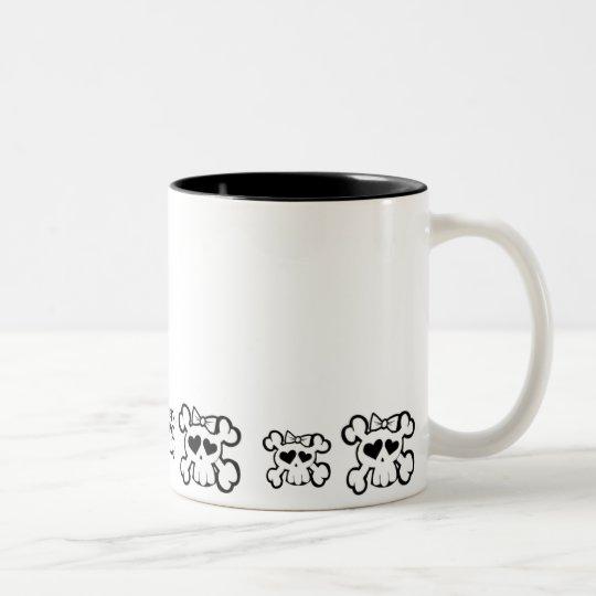 Caneca De Café Em Dois Tons Skully