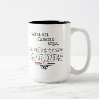 Caneca De Café Em Dois Tons Somente o melhor é fuzileiros navais