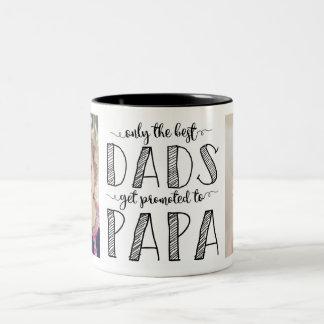 Caneca De Café Em Dois Tons Somente os melhores pais obtêm promovidos à papá