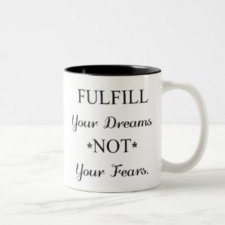 Caneca De Café Em Dois Tons Sonhador