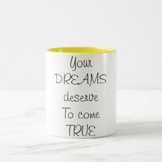 Caneca De Café Em Dois Tons Sonhos