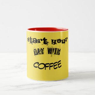 Caneca De Café Em Dois Tons sorriso do café