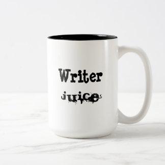 Caneca De Café Em Dois Tons Suco do escritor