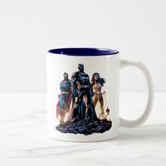Caneca De Café Em Dois Tons Superman, Batman, & trindade da mulher maravilha