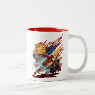 Caneca De Café Em Dois Tons Superman da liga de justiça |, flash, & crachá de