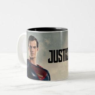 Caneca De Café Em Dois Tons Superman da liga de justiça | no campo de batalha