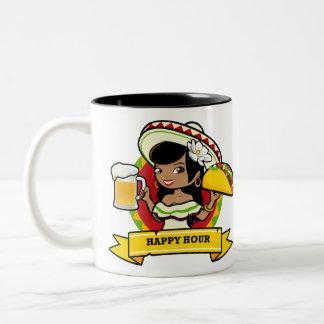 Caneca De Café Em Dois Tons Taco do happy hour