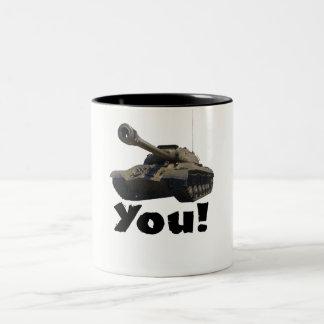 Caneca De Café Em Dois Tons Tanque você!