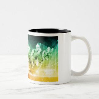 Caneca De Café Em Dois Tons Tecnologia avançada como ELE fundo do conceito