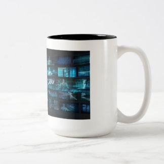 Caneca De Café Em Dois Tons Tecnologia da informação ou ELE Infotech como uma