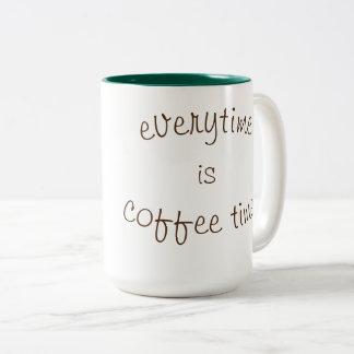 Caneca De Café Em Dois Tons Tempo do café!