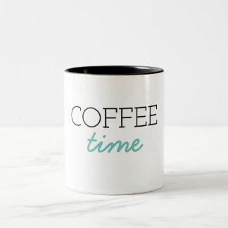 Caneca De Café Em Dois Tons Tempo do café
