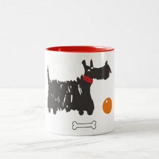 Caneca De Café Em Dois Tons Terrier escocês