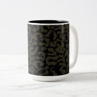 Caneca De Café Em Dois Tons Teste padrão da pantera da pantera preta | Erik