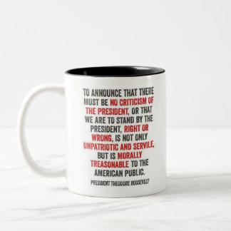 Caneca De Café Em Dois Tons Theodore Roosevelt - desaprovação do presidente