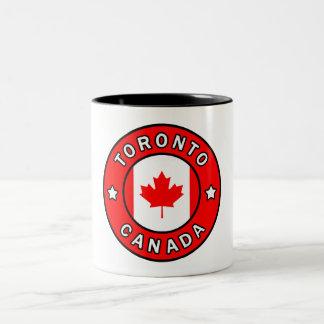 Caneca De Café Em Dois Tons Toronto Canadá