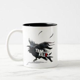 Caneca De Café Em Dois Tons TrapKillez 'corvo'