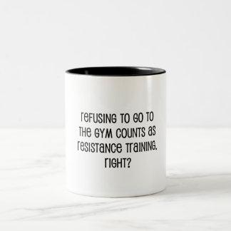 Caneca De Café Em Dois Tons Treinamento da resistência